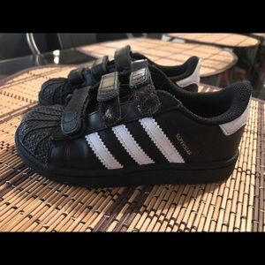 "Toddler boy Adidas ""superstar"" sneakers size 9"